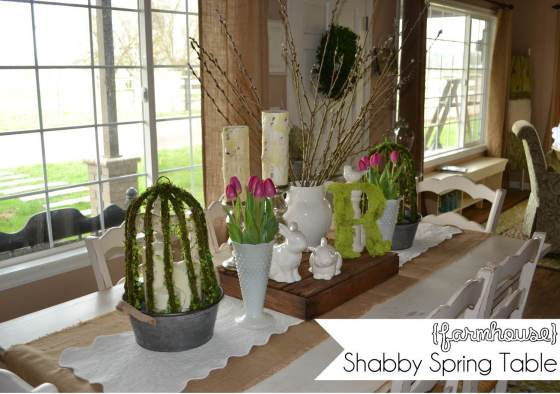 farmhouse shabby spring table